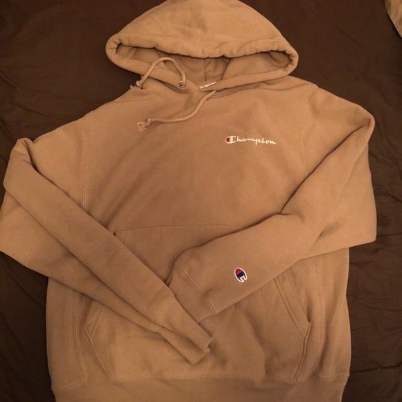 Champion Sweaters - women s small tan champion hoodie 03186ed54c